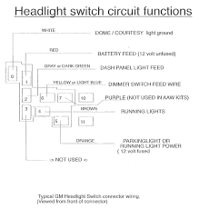 gm light switch wiring diagram wiring diagrams schematics