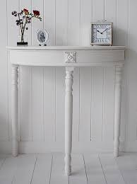 white half moon table half moon console table white hall table red white grey