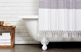 Dwell Shower Curtain - bath collection behind the design styling tips dwell