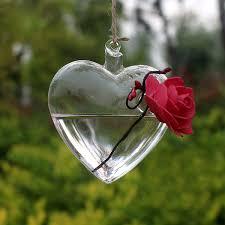 Wedding Garden Decor Aliexpress Com Buy Clear Heart Glass Hanging Vase Bottle
