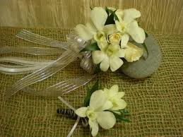 White Dendrobium Orchids All In White Dendrobium Orchid And Spray Rose Corsage Every