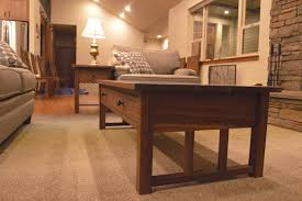 Coffee Table With Drawers by Walnut