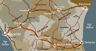 durango mexico map mexico federal highway 40 40d history maps drive tolls