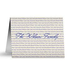 personalized family names note cards office gifts