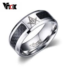 men rings aliexpress buy vnox masonic men ring stainless steel