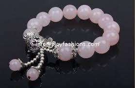rose quartz bead bracelet images 12mm rose quartz beaded bracelets pink gemstone bracelets jpg