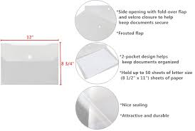 winnable double pocket poly envelope for document 8 1 2