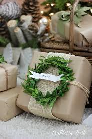 i love this gift wrap kraft paper twine burlap wreath