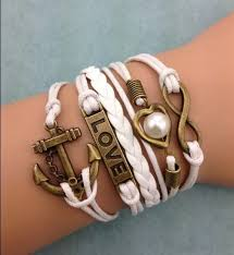 infinity charm leather bracelet images 68 best diy leather bracelet images leather jpg
