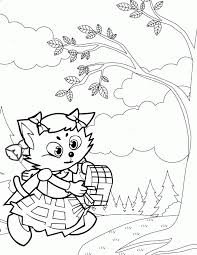 red riding hood printables coloring