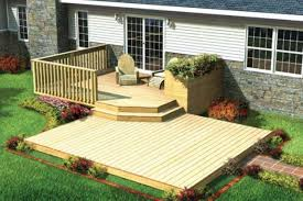 Simple Backyard Deck Designs Backyard Landscape Design - Simple backyard design