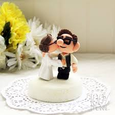 up cake topper custom wedding cake topper wars up