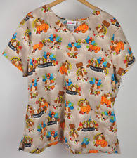 scrubstar thanksgiving scrubs in tops ebay