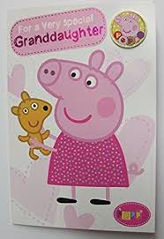 peppa pig for a very special grand daughter birthday card amazon