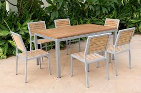 Designer Wooden Outdoor Furniture by Patio Wood Patio Dining Set Home Interior Design