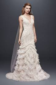 lace wedding dress beaded lace wedding dress with plunging neckline david s bridal