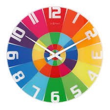 Buy Clock by Colorful Wall Clock Shenra Com