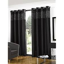 Black Sequin Shower Curtain Glitz Black Faux Silk Sequin Ready Made Full Lined Curtains Size