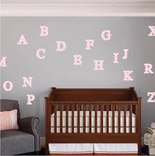 Alphabet Wall Decals For Nursery 3d Alphabet Wall Decals Nursery Wall Decal Murals Primedecals