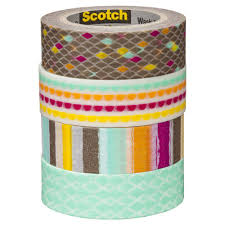 Washi Tape What Is It Scotch Expressions Washi Tape 4 Pack Diamond Officeworks