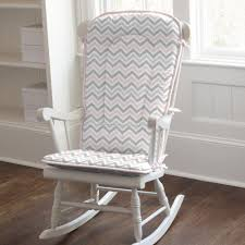 Recliner Rocking Chairs Nursery by Furniture White Wooden Rocking Chair With Grey And Pink Chevron