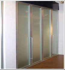 Interior Folding Glass Doors Furniture Framed Frosted Glass Bi Fold Wardrobe Doors Design