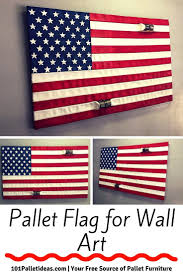 Wooden American Flag Wall Hanging Pallet Flag For Wall Art 101 Pallet Ideas