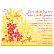 cool wedding invitations for the ceremony pink yellow orange