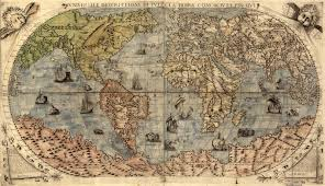 North America World Map by Old World Map Shows North America As Part Of East Asia 1599x919