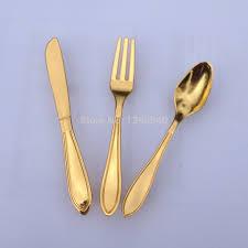 Kitchen Cabinet Door Stoppers Aliexpress Com Buy 9x Golden Spoon Knife Fork Kitchen Cabinet