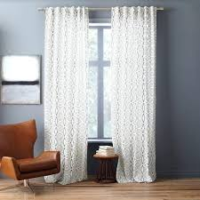 Cotton Canvas Curtains Canvas Curtains Cotton Canvas Stripe Curtain White