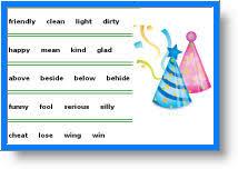 free antonyms worksheets for kids 3rd grade antonyms learning games