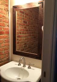Bathroom With Mirror Rustic Wood Bathroom Mirror Large Wood Bathroom Mirror Acnc Co