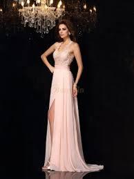 a linie spaghetti trager sweep pinsel zug organza brautkleid mit perlen verziert p16 abendkleider rosa günstige rosa kleider für anlässe