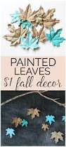 Does Hairspray Keep Pumpkins From Rotting by These Chic Painted Leaves As Fall Decorations Are Gorgeous