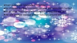 winter holidays around the world powerpoint presentation tpt