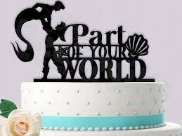 same wedding toppers eric and merman part of your world same event wedding cake