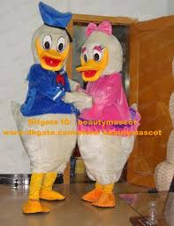 Daisy Duck Halloween Costume Funny White Donald Duck Daisy Duck Die Ente Duckling Mascot