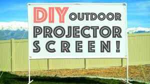 diy outdoor projector screen u2013 diy home improvement and projects