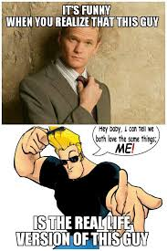 Johnny Meme - johnny bravo and barney stinson are soulmates meme by