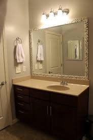 Wood Frames For Bathroom Mirrors Impressive Bathroom Mirror Frame Ideas For House Design Plan With