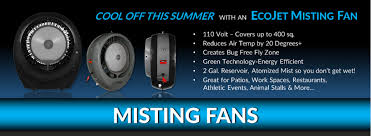 how to cool a warehouse with fans misting fans cool friendly breezes 400 sq ft coverage