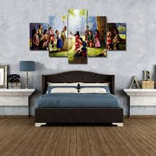 jesus christ u0026amp children painting wall art canvas hd print
