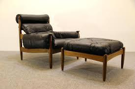 Leather Armchair With Ottoman Mid Century Ottoman Ebay Wood Sofa Legs Leather Chair And 27980