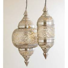 Moroccan Pendant Lights Moroccan Hanging L Collection Silver Finish Vivaterra