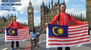 pria perkasa mengayuh sepeda ke london berdasarkan malaysia