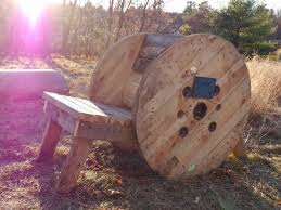 Cable Reel Chair Free Wooden Spool Adirondack Chair Plus Two Others Tiny Cabins