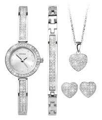 ladies necklace watch images Sekonda ladies stone set watch bracelet necklace earrings gift set jpg