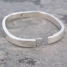 clasp bangle bracelet images Chunky solid silver hinged bangle jpg