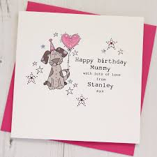 personalised happy birthday card from the dog by eggbert u0026 daisy